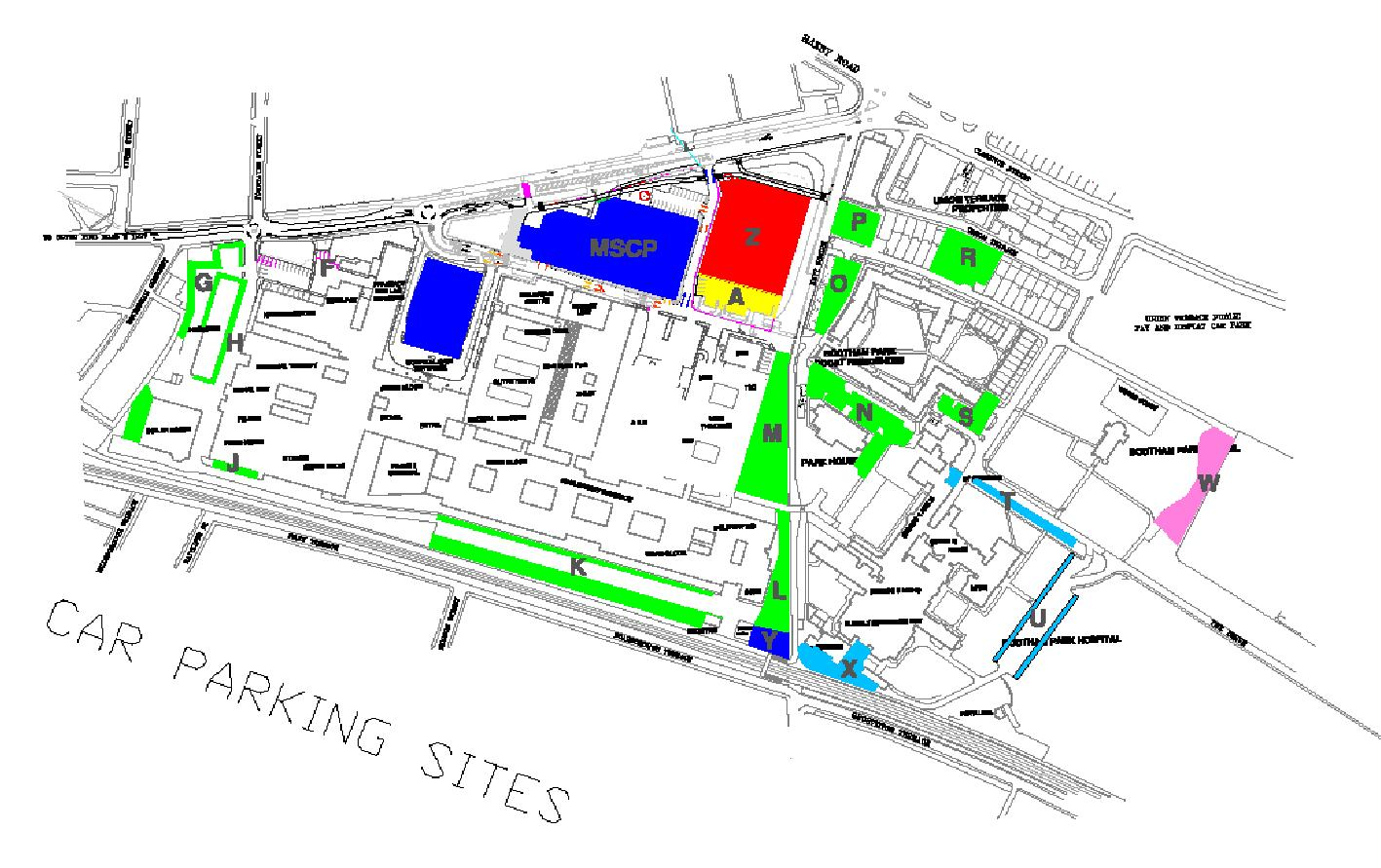Car Parking Sites Map