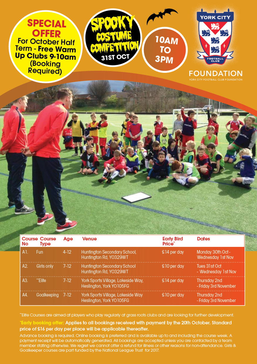 October Holiday Courses