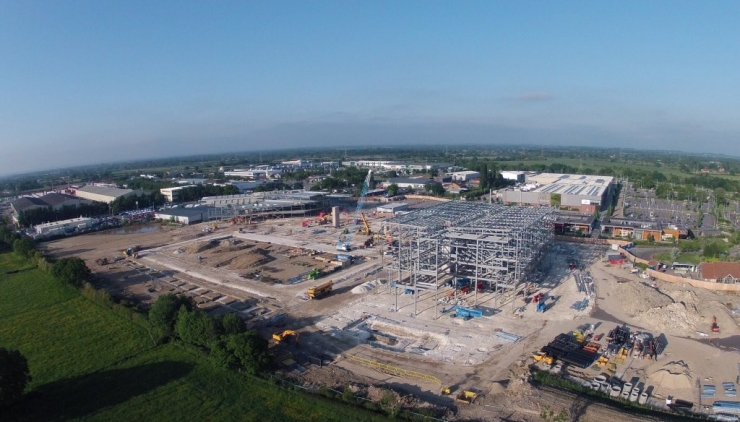 New stadium steelwork on the rise | York City Football Club