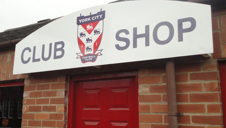 York City FC Club Shop Front